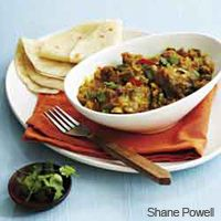 Slow Cooked Lamb Curry with Aubergine