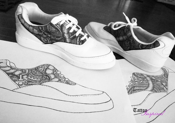 we email customers a sketch of what the shoe will look like.