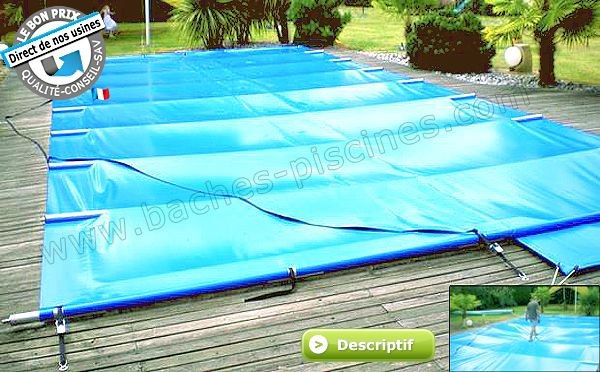 Couverture à barres APF Securit Pool Excel SUR MESURE - Bache à