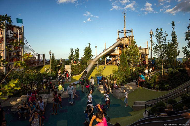 Помните, недавно я рассказал вам о том, как надо делать детские площадки ? И вот сегодня хочу показать очень хороший пример – детский парк Мэгги Дэйли. Он появился…