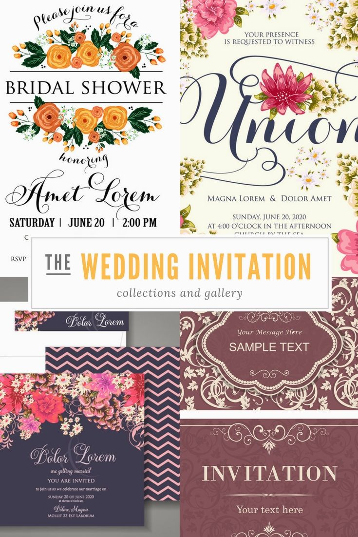 Free Wedding Invitations Examples - Go Creating Your Wedding Event ...