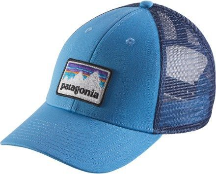 Patagonia Shop Patch LoPro Trucker Hat Radar Blue