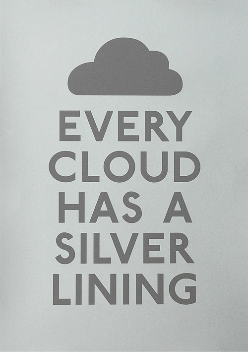 silver lining...
