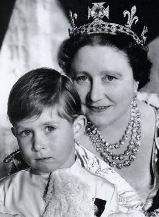Prince Charles with his grandmother, Elizabeth the Queen Mother