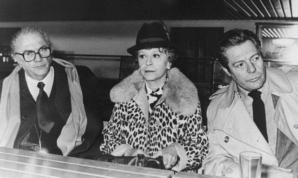 Federico Fellini with Giulietta Masina and Mastroianni