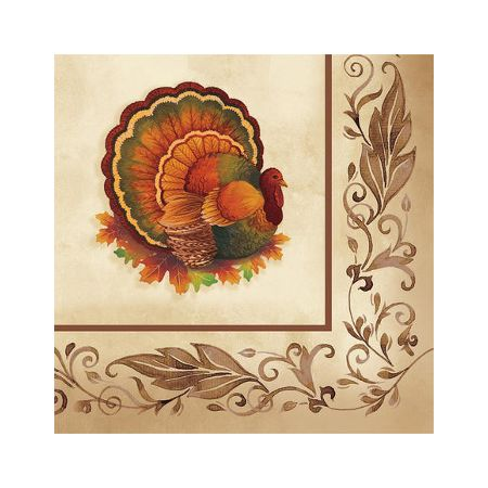 Traditional Feast Beverage Napkins 16ct
