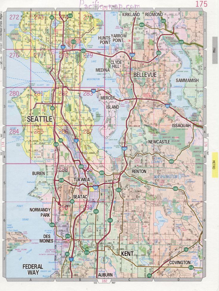 Seattle WA Road Map  ShadowRun  Pinterest  Seattle