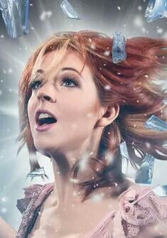 Lindsey Stirling. Listening to the shatter me album right now! She is the best! Who else likes her?  She plays violin mixed with a dubstep or electronic remix.