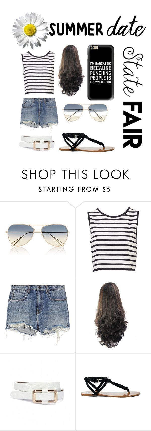 """summer date @ the state fair☀️"" by danirayeee ❤ liked on Polyvore featuring Isabel Marant, Alexander Wang, Sole Society, Casetify, statefair and summerdate"