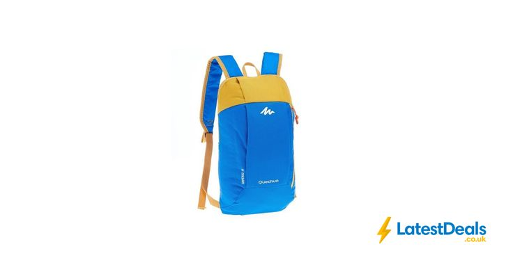 Quechua Arpenaz 10 L Day Hiking Backpack Blue Yellow, £0.79 at Decathlon
