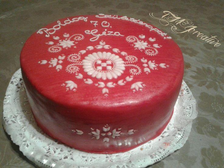 #TMJcreative #birthdaycake  #hungarianfolkart #buzsákivézás