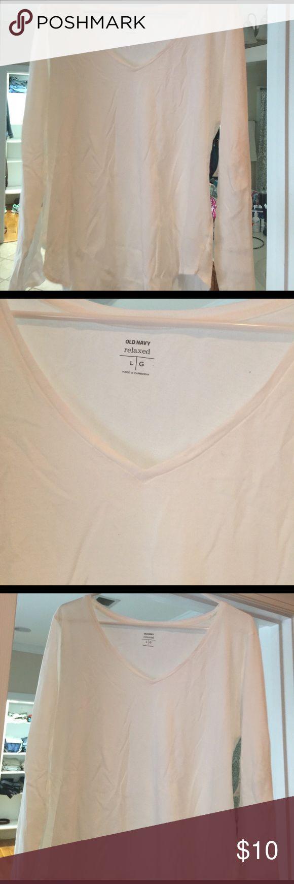 Black t shirt old navy - White T Shirt V Neck Old Navy Size Large New White V Neck