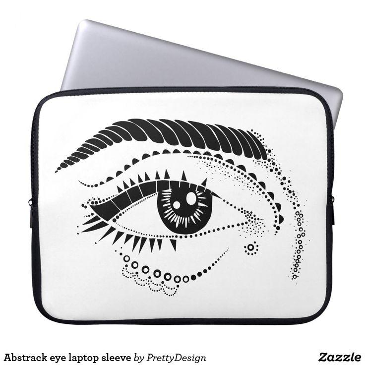 Abstrack eye laptop sleeve