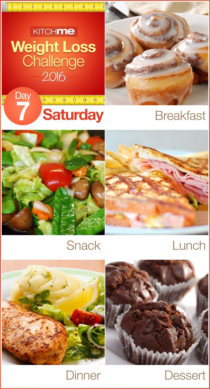 Day 7 Meal Plan Recipes – Weight Loss Challenge for Weight Watchers - Cinnamon Rolls, Stir Fry Chinese Vegetables, Monte Cristo Sandwich, Lemon Pepper Chicken, and Chocolate Cupcakes