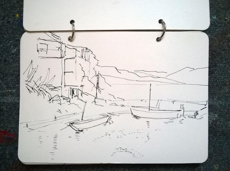 Uvala Veprinova (Hvar, HR) - from my sketches diary
