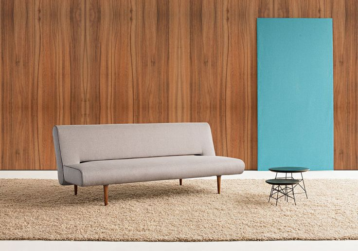 Unfurl Sofa Bed - dark wood