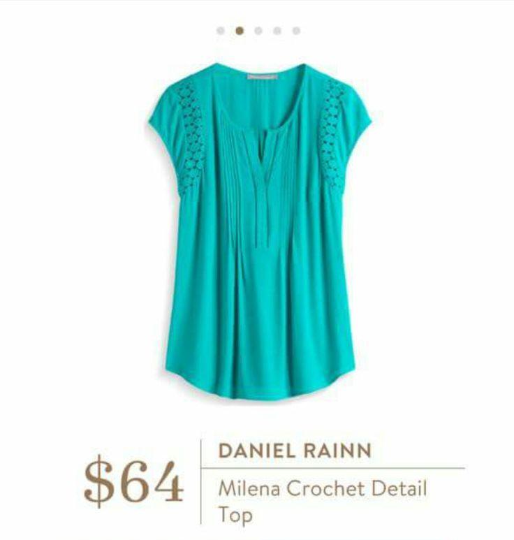 Stitch Fix, please send me this! Daniel Rainn Milena Crochet Detail Top! Love it!!! Try Stitch Fix and get your own personal stylist at: https://www.stitchfix.com/referral/5603463
