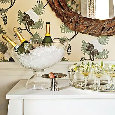 Make a Champagne Bar | Set up your buffet as a help-yourself bubbly bar