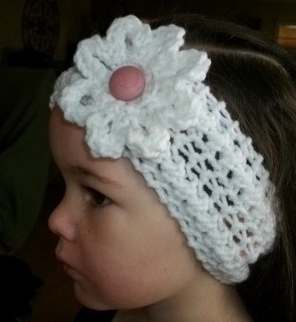 Knit Headband Pattern With Crochet Flower : 17 best images about free knitted headbands on Pinterest ...