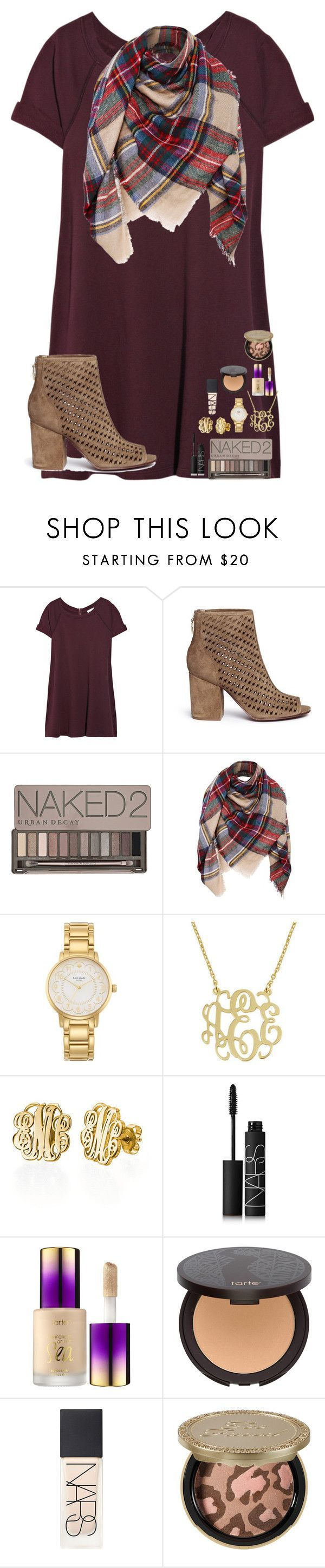 """Christmas Party (Day 14)"" by mae343 ❤ liked on Polyvore featuring Vanessa Bruno, Ash, Urban Decay, Kate Spade, NARS Cosmetics, Sephora Collection, tarte, Too Faced Cosmetics and 30DaysOfChristmas2k16 #urbanmoda"