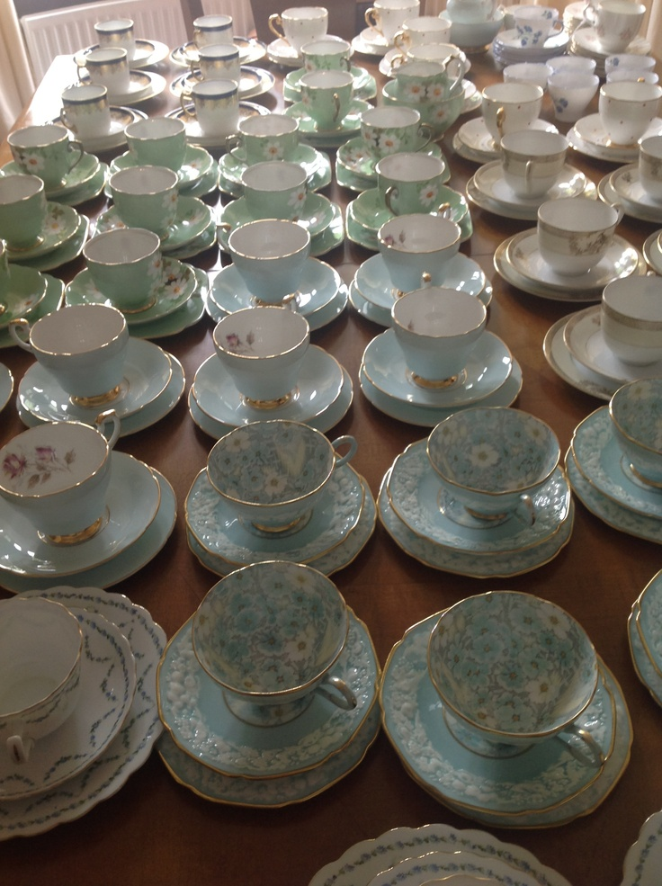 The vintage teaset collection. Available for hire.