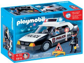 Amazon.com: Playmobil Police Car: Toys & Games