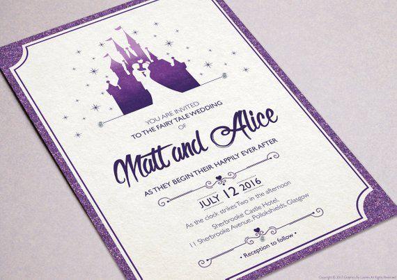 Disney Castle Wedding Invitations
