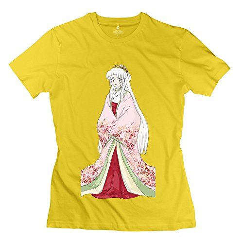 WSB Womens Tshirts Tsukihime Anime Inuyasha Yellow XXL