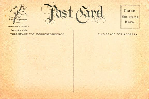 Vintage Postcard Template Front | www.imgkid.com - The ...