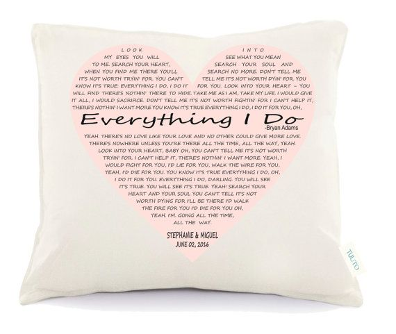 Love song pillow valentine's day pillow  Personalized by Tulito