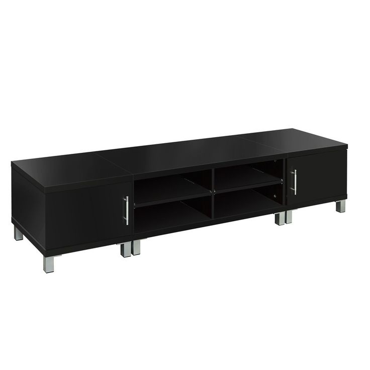TV Stand Entertainment Unit 190cm Lowline Plasma LCD LED Cabinet Drawer Black