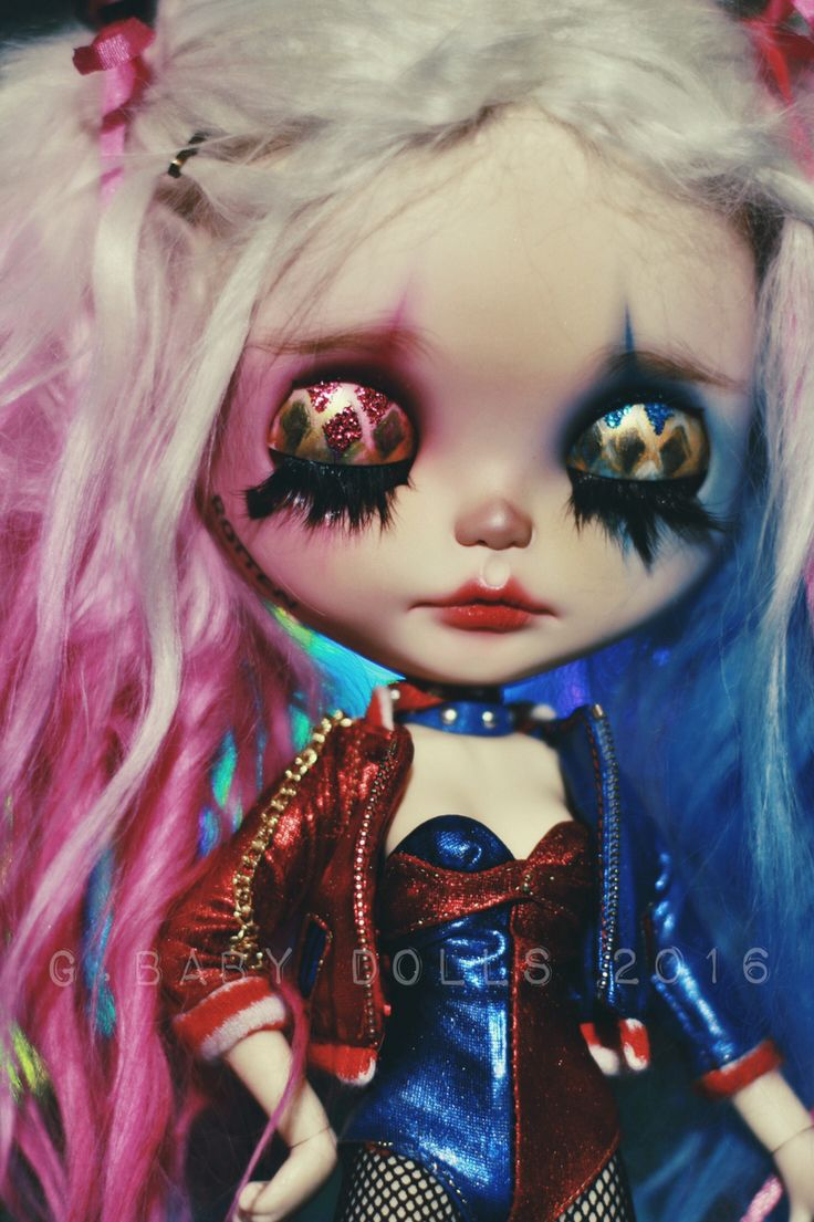 Harley Quinn Blythe Doll custom by G.Baby Dolls