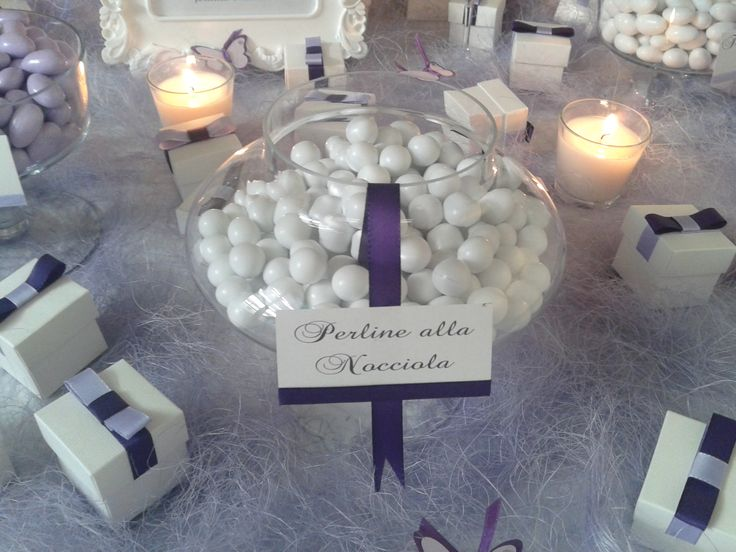 White Table - Confettata con richiami in viola e lilla