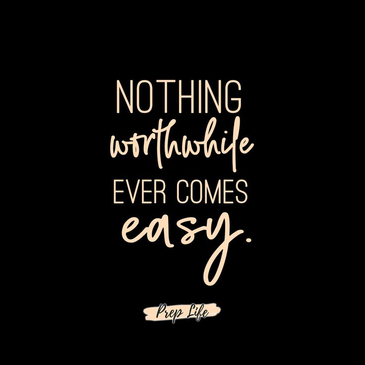 Nothing worthwhile ever comes easy.  So hustle hard, put your work in at the gym, and grind it out.  #fitness #motivation