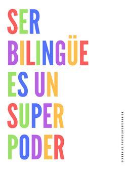 Spanish Poster - Ser Bilingue