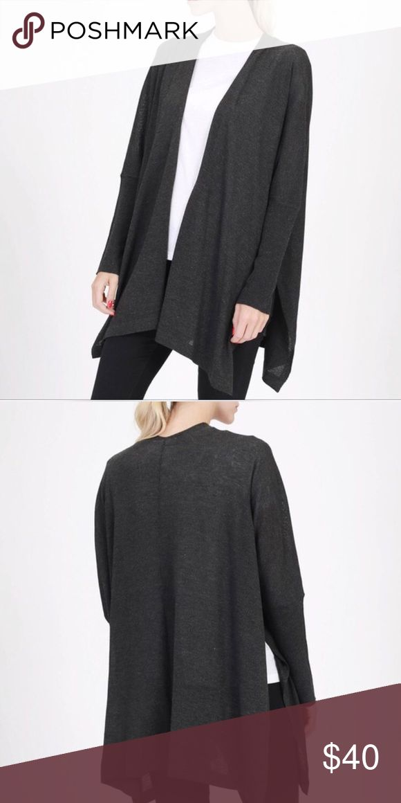 Women's Charcoal Black Kimono Cardigan. Women's Charcoal Black Kimono Cardigan. Great Dressed Up Or Down. Goes with Everything!• I LOVE OFFERS!•😊 Double Zero Sweaters