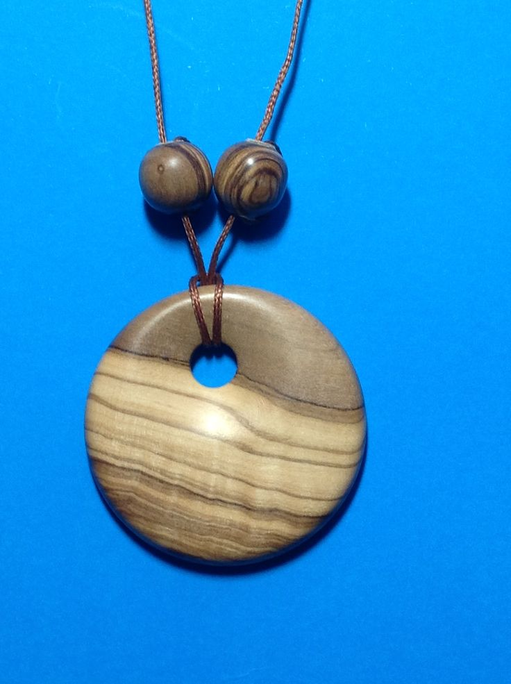 Pendant 130 year old South Australian olive made in NZ. Latheabout.com