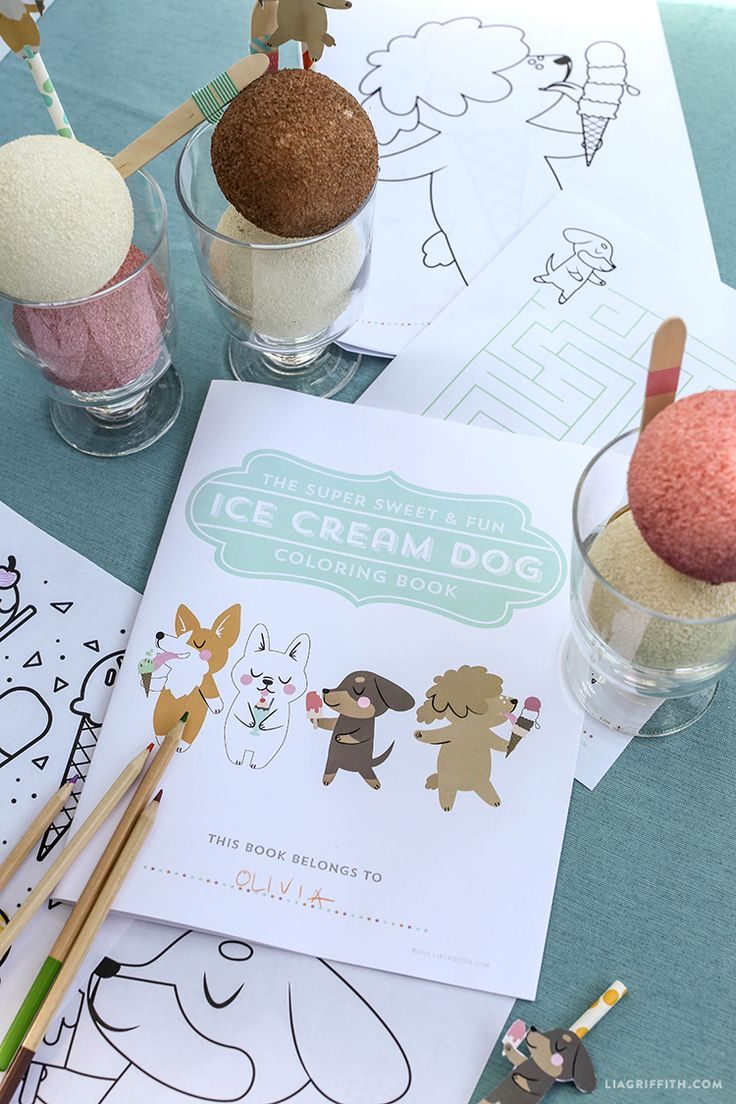 Free kids coloring pages - Enjoy Eat Color Repeat The Super Sweet Fun Ice Cream Dog Coloring Book From Lia
