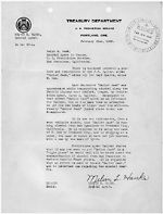 Letter concerning the transportation of liquor from California to Washington.  Record Group56  Records of the Department of Justice, Bureau of Prohibition  National Archives and Records Administration  ARC Identifier: 298430
