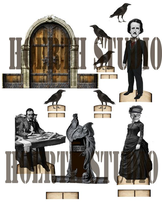 Edgar Allen Poe Gothic Paper Theatre by Raidersofthelostart