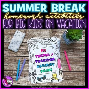 Printable activities for teens to keep them busy over the summer!This Summer packets: Activities resource is great for young students to have fun with over the holiday periods and summer vacation! View video preview hereWhen traveling or over a vacation period, young people will undoubtedly be glued to technology.
