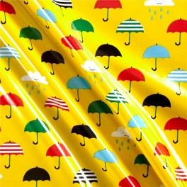 "Tela LAMINADA ""singing in the rain"""