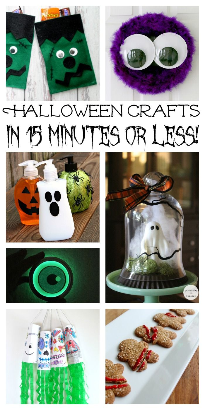 Crafts for Halloween that can be made in 15 minutes or less!