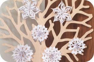 DIY; Seizoensboom sneeuwvlokken // seasonal tree // winter // snowflakes