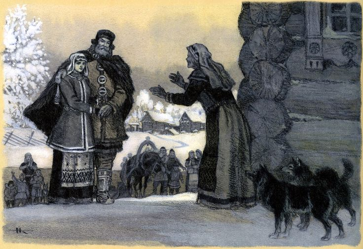 nicolai kochergin_kalevala_09_the beauty of pohjola chooses a husband_08.jpg (1600×1098)