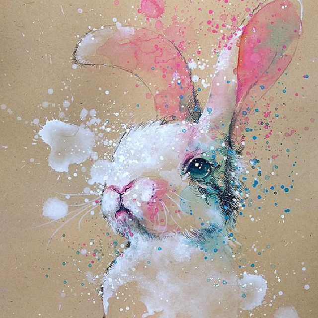 Watercolor art of a Rabbit, TilenTi - Imgur