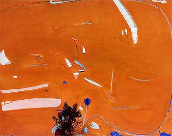 Brett Whiteley - Big orange (sunset) 1974