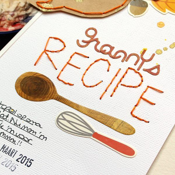 My favorite recipe layout by @MoniqueLiedtke using the #Harvest collection by @PebblesInc.
