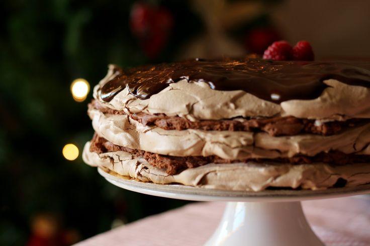 Bolo suspiro de chocolate - annie's kitchen