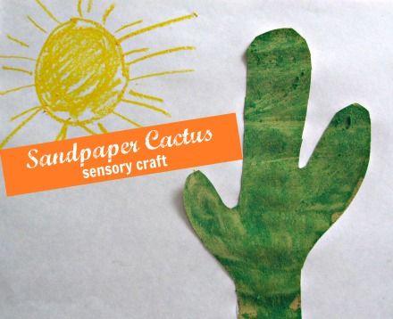 Sandpaper Cactus Craft for kids